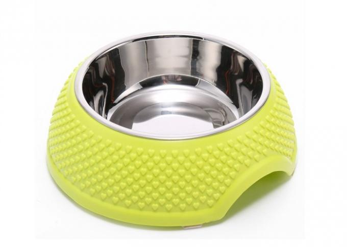 18.5 * 7.8cm Plastic Puppy Bowls Food Grade ABS With Multi Color QS Approved