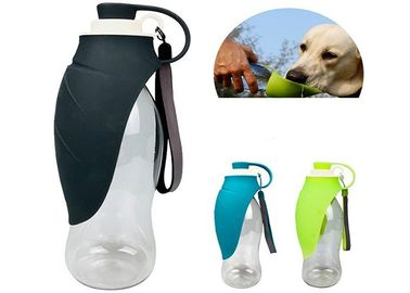 China 650ML Foldable Leaf Pet Water Dispenser ABS Outdoor Portable Bottle Three Color distributor