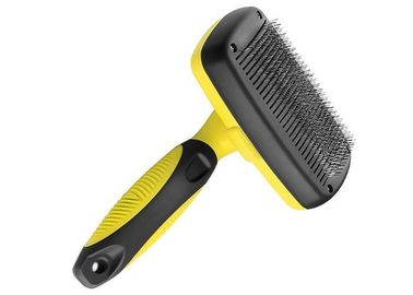 China Yellow Pet Grooming Comb Stainless Steel Teeth TPR Handle OEM ODM Accepted factory