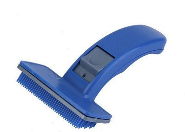 China Quick Clean Shedding Tool Pet Grooming Comb Durable ABS Bule 16cm Eco Friendly distributor