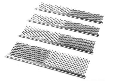 China Single Side Steel Pet Comb Stainless Steel Wide Narrow Teeth Silver Durable factory