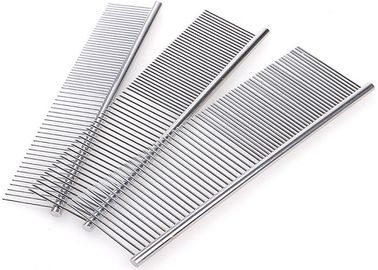 China 3 Size Single Side Stainless Steel Dog Comb , 2 Size Teeth Dog Grooming Brush distributor