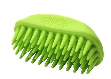 China Soft Bristle Durable Cat Grooming Brush , Silicone Dematting Dog Hair Brush distributor