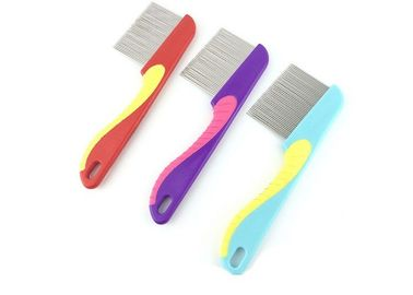China Plastic Handle Pet Flea Comb 15.5 * 4CM Soft Lightweight For Long Hair Dog factory