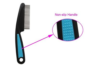 China ABS Non Slip TPR Handle Pet Flea Comb Multi color With Stainless Steel Teeth distributor