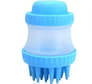 China Multi Function Silicone Pet Bath Massage Brush , Shedding Tool Pet Grooming Products factory